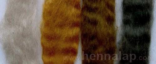Hajfestés: Fehér haj, vörös haj hennával, barna haj hennával és indigóval, fekete haj indigóval.