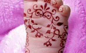 Hennafestés gyerekeken