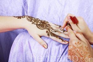 Friss henna és pár napos minta