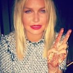 Lara Bingle shows off her henna tattoo before launch of Being Lara Bingle