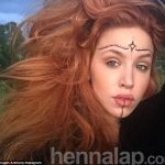Imogen Anthony experiments with henna facial art