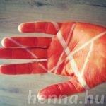 Absztrakt, réteges henna